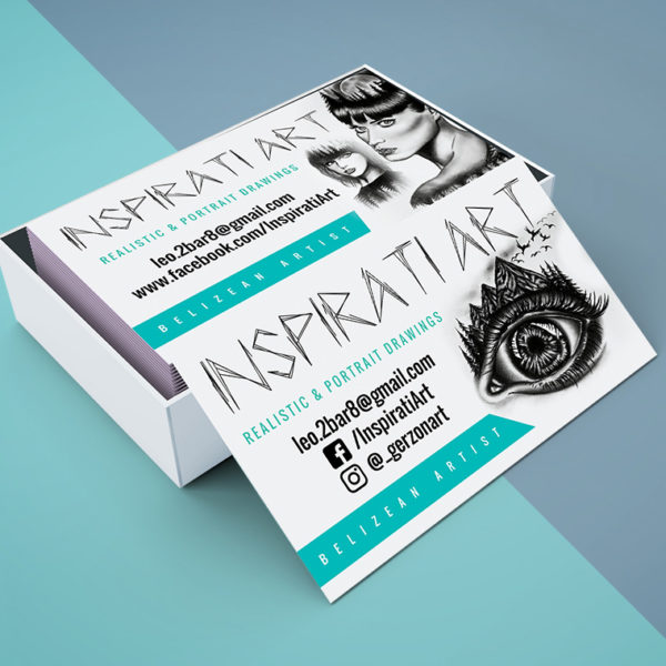 Inspirati Art Business Cards design portfolio item featured