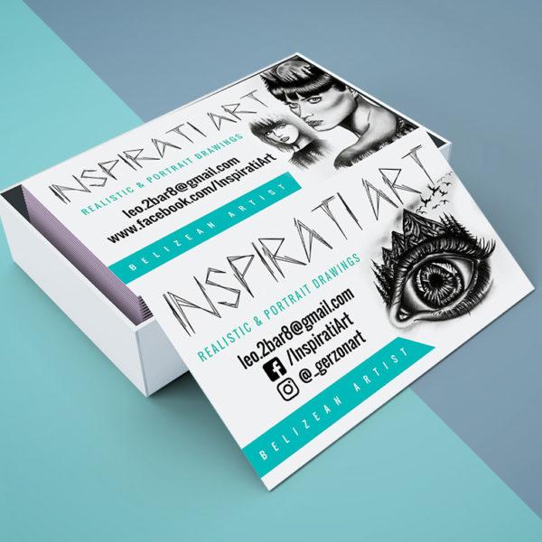 Inspirati Art Business Cards design portfolio item featured