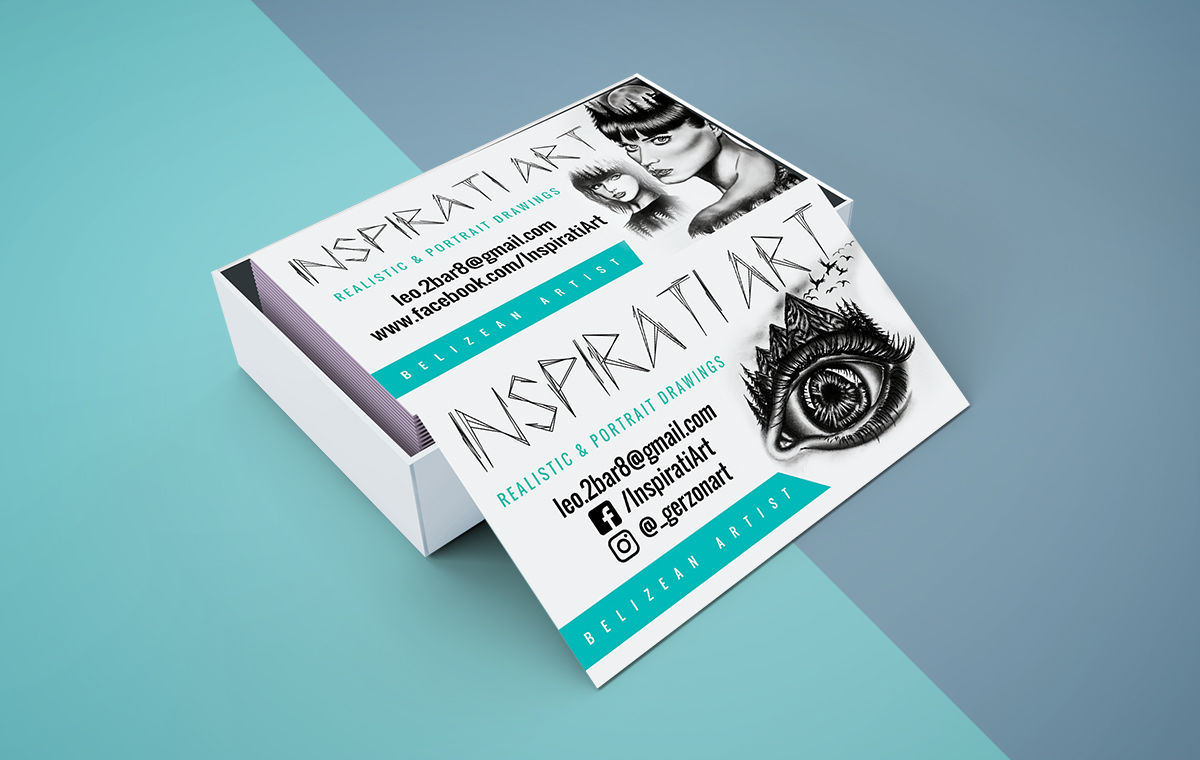 Inspirati Art Business Card - Visuals by Glenn Patrick | Belizean ...