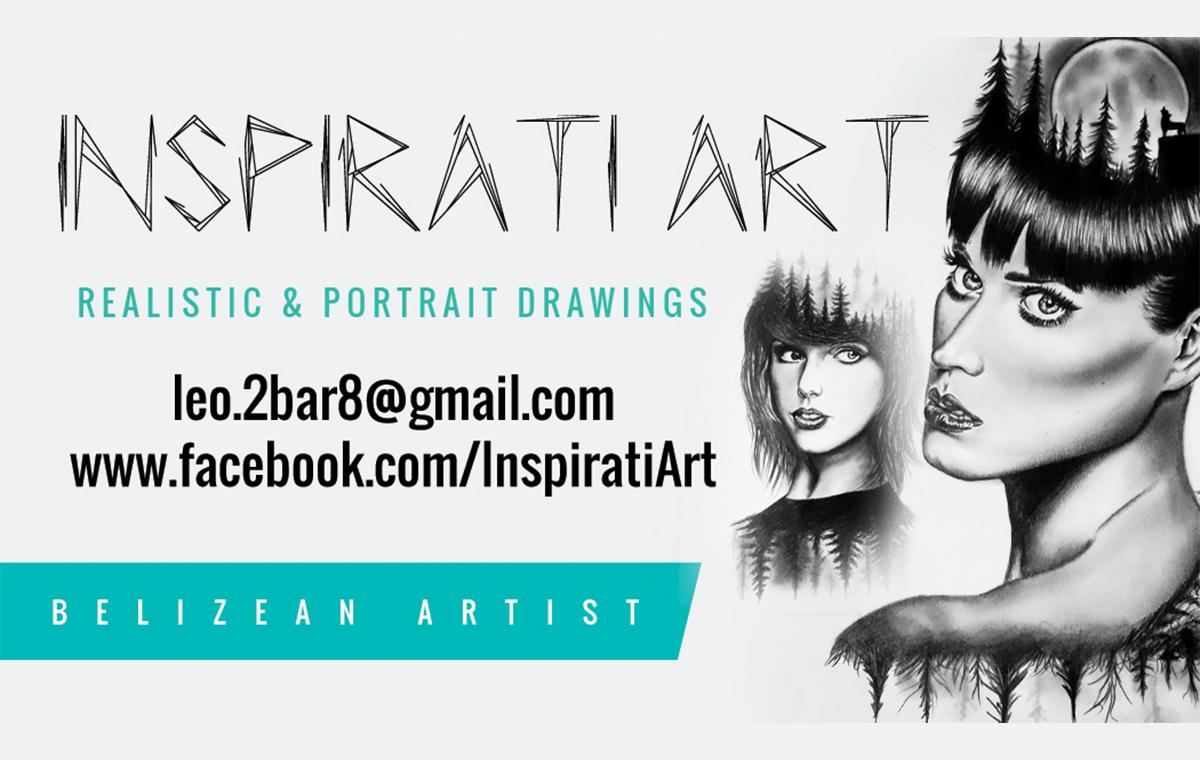 Inspirati Art Business Cards design portfolio item two