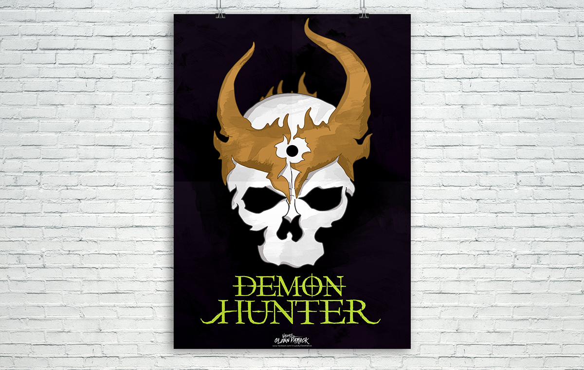 Demon Hunter Skull Poster design portfolio item