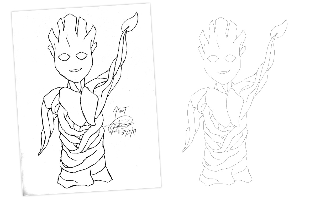 I am Groot Drawing portfolio item