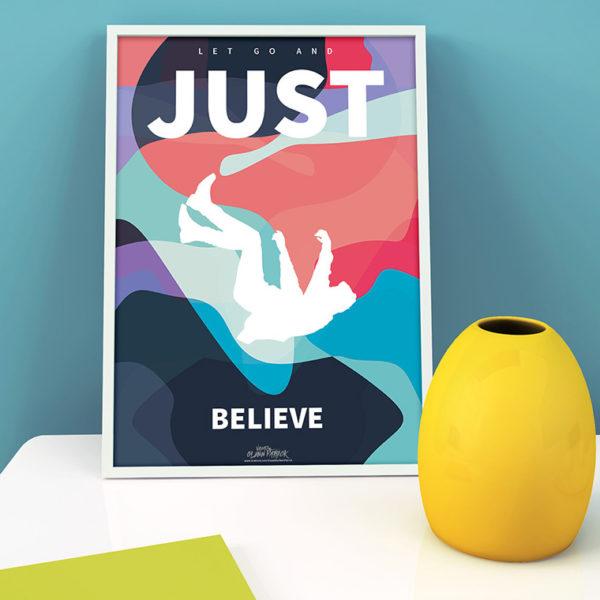 Just Believe Poster design portfolio item featured