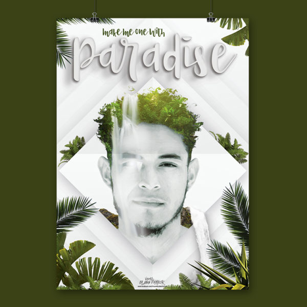 One with Paradise Poster design portfolio item featured