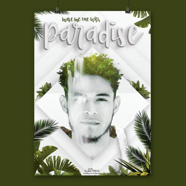 One with Paradise Poster design portfolio item featured