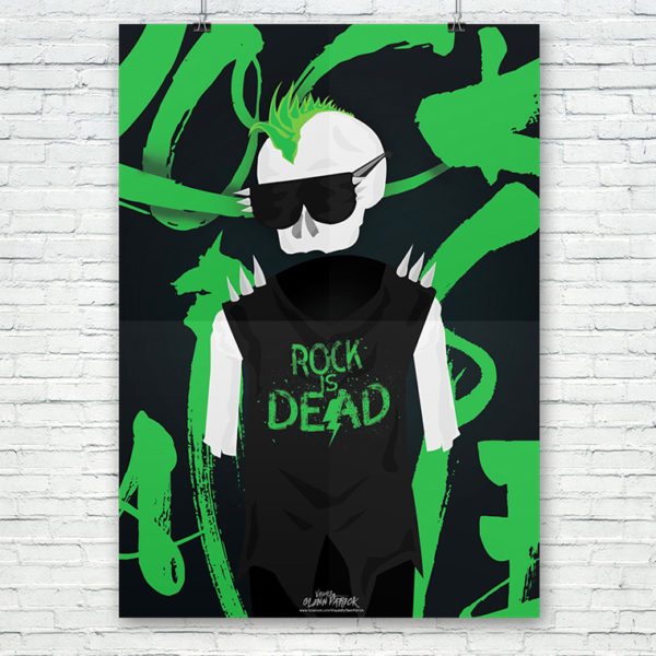 Rock Is Dead Poster design portfolio item featured