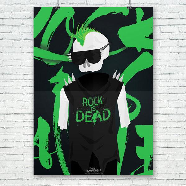 Rock Is Dead Poster design portfolio item featured