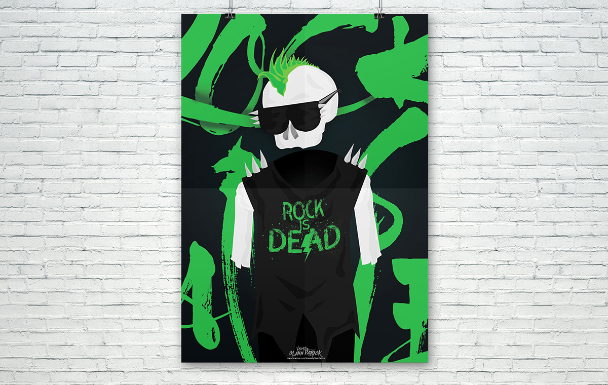 Rock Is Dead Poster design portfolio item