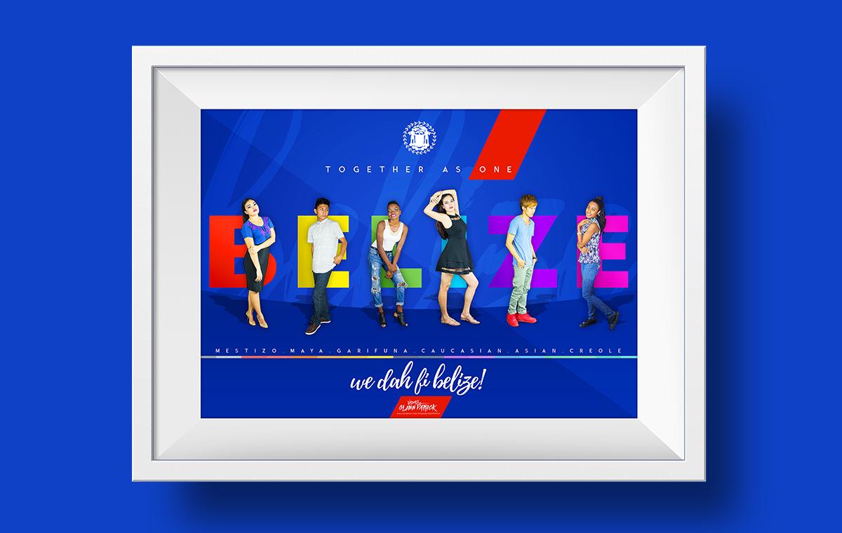 we da fi belize together as one Poster design portfolio item one