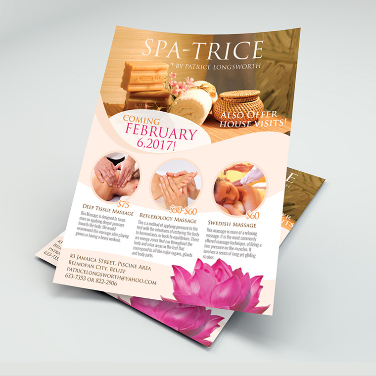 Spa-trice Flyer design portfolio item featured