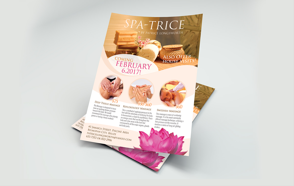 Spa-trice Flyer design portfolio item