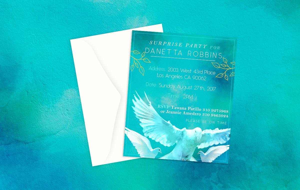 Danetta Custom Birthday Card Design